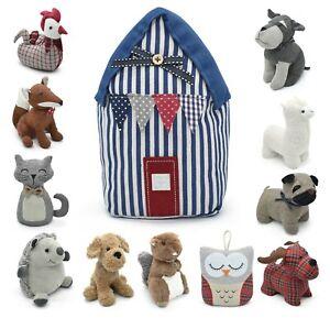 Filled Animal Door Stoppers Heavy Fabric Filled Door Weight Wedge Cuddle Animals