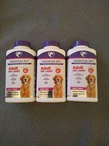 3-Packs !21st Century Essential Pet Adult Hip & Joint Ages 5+ Dog 120 Chewables.