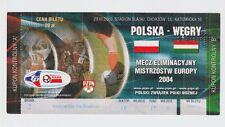 Orig.Ticket   EM Qualifikation  29.03.2003   POLEN - UNGARN   !!    SELTEN