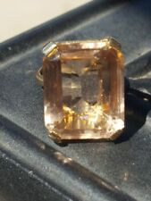 Morganite Octagon Cut Ring 10kt Solid Yellow Gold