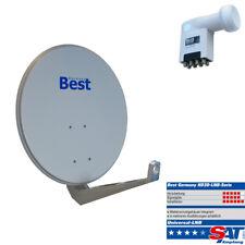 Sat Schüssel Antenne BestGermany AluminiumHD 80cm+UltraHD3D OctoLNB 8 Teilnehmer