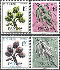 Colonias españolas Rio Muni 1967 plantas de bienestar infantil Flora estampillada sin montar o nunca montada Fina 76 - 79