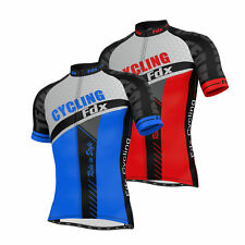 FDX Mens Cycling Jersey Half Sleeve Top Cycle Racing Team Quality Biking Top