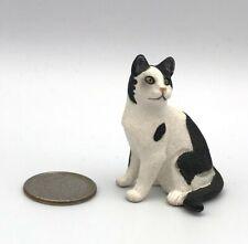 Schleich Sitting Black & White Cat Domestic Figure Kitty 2008 Retired 13637