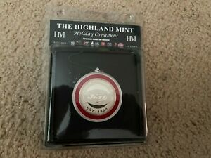 NEW YORK JETS  HIGHLAND MINT SOLID SILVER PLATED COIN CHRISTMAS ORNAMENT NIP