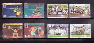 PAPUA NEW GUINEA 1996 Olympics + 2007 Scouts sets MUH