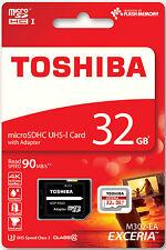 TOSHIBA MICRO SD 32GB CLASSE 10 CLASS MICROSD SDHC SCHEDA DI MEMORIA CARD 90MB/S
