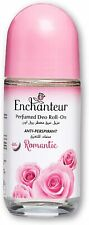 Enchanteur Romantic Roll-On Deodorant for Women, 50ml with Roses & Jasmine Extra
