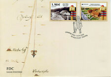 More details for estonia europa stamps 2020 fdc ancient postal routes services buildings 2v set