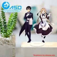 Sword Art Online Asuna Kirito Anime Acrylic Stand Figure display table toy model