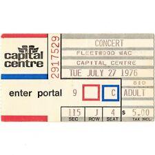Fleetwood Mac Concert Ticket Stub Landover 7/27/76 Capital Centre Oh Well Rare