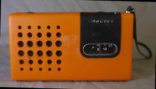 Mini poste récepteur radio vintage «Concord»  orange
