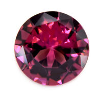 Certified 6.6mm Round Natural Unheated Pink Spinel 0.92ct VVS Clarity Sri Lanka