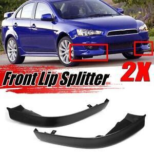 2Pcs Front Bumper Lip Side Splitter Spoiler Cap For Mitsubishi Lancer 2008-2015