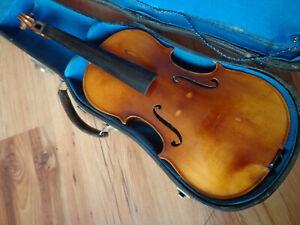 Alte Geige 4/4 Violine Copy Stradivarius Made in Western Germany