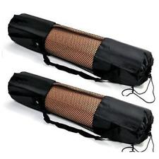 Portable Yoga Pilates Mat Nylon Bag Carrier Mesh Centre Adjustable Strap