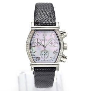 Croton Chronomaster Diamond MOP Dial Chronograph Women's Date Watch 31 x 29 mm