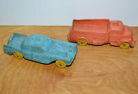 "Vintage AUBURN RUBBER Car & Truck Lot #506 Sedan #508 Work Truck 4.5"" Long"