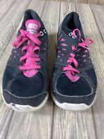 Nike Womens Black White Pink Flex 2013 Run Size 9 Tennis Shoes