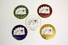 Luxor Wire Wheel 80 Spoke Emblems Blue New Set Of 4