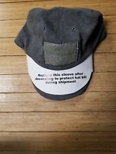 Tactical Assault Gear hat w/ led light operator hat hook and loop grey