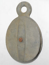 """VINTAGE ALL METAL HEAVY DUTY INDUSTRIAL PULLEY! 4"""" DIAMETER! FROM AN OLD FACTORY"""