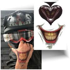►TATOUAGE TEMPORAIRE SMILE JOKER (Tattoo éphémère jeux de carte / Halloween)◄