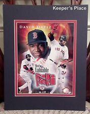 David Ortiz Boston Red Sox Double Matted Sports Photo Most Valuable Papi New