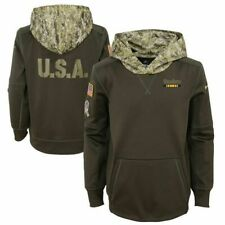 Nike Youth Pittsburgh Steelers Salute to Service Hoodie 2017 Therma-fit Small