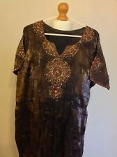 SC152-Two Tone Brown Embroidered 3 piece shalwar suit in size 18/20