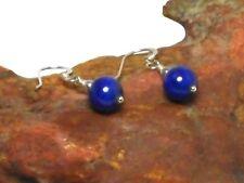 Blue  LAPIS  LAZULI   Sterling  Silver  925  Gemstone  Drop  EARRINGS