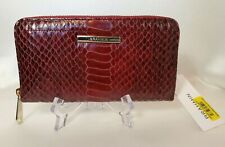 ❤️ BRAHMIN Suri Wallet Cranberry Rosehip  Beautiful rich color + pattern  NWT ❤️