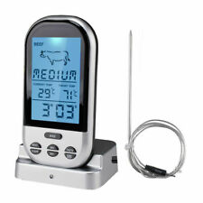 Digital Wireless Oven Thermometer Meat BBQ Grill Food Probe w/Timer Alarm