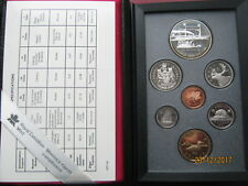 Canada 1991 double dollar Proof-like Coin Collection Set Silver Frontenac navire