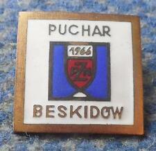 FIS BESKIDY CUP SKI JUMPING NORDIC COMBINED POLAND SZCZYRK 1966 PIN BADGE