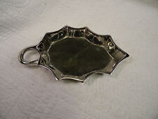 Hobby Lobby Silver Metal candy/trinket dish in the shape of a Holly Leaf