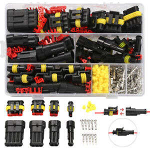 352x Sets Waterproof Car Auto Electrical Wire Connector Plug 1-4Pin Way Plug Kit