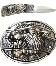NEW HIGH QUALITY TIGER BELT BUCKLE  3D REMOVABLE SILVER COWBOY RODEO MEN WOMEN