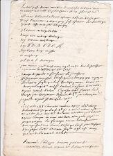 Historische Handschrift Frankreich Dokument France Manuskript 1740er