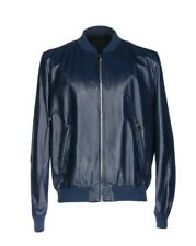 PRADA Leather jacket dark blue