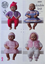 Girls DK/Double Knit Doll Clothings Patterns