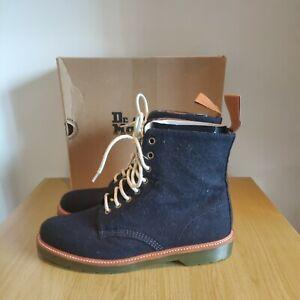Dr Martens 1460 Beckett Navy Felt Suede Boots Size UK 10 EU 45 Brand New RARE
