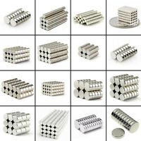5-100Pcs Super Strong Round Disc Cylinder Rare-Earth Neodymium Magnet N35/N50