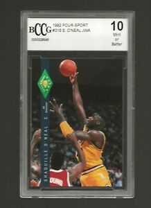 1992 Classic 4 Sport Shaquille O'Neal ROOKIE #318 BGS BCCG 10 SHAQ SHARP!