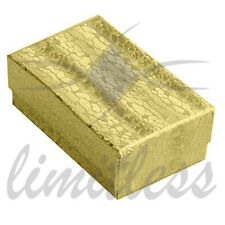 Gold Cardboard Jewelry Boxes Gold Foil Cotton Filled Gift Boxes 12-25-50-100
