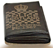 POLICE SCOTLAND FORCE UK PERSONALISED GENUINE LEATHER WALLET ANY NAME & NO