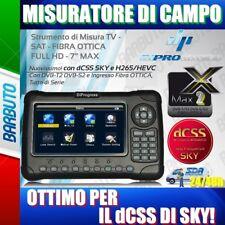 MISURATORE TV - SAT - FIBRA OTTICA FULL HD - 7 MAX Nuovissimo! CON DCSS