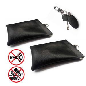 Anti-theft RFID Signal Blocking Shielding Car Remote Key Cover Case Pouch Bag