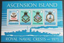Ascension – 1971 Naval Crests – Minisheet – UM (MNH) (R3)