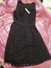 Eric + Lani Little Black Dress Womens XS Sleeveless Sheer and sparkly